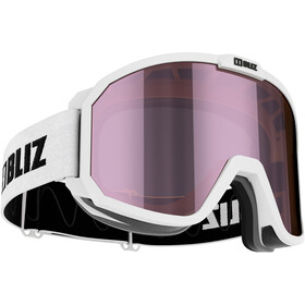 Bliz Rave Lunettes de protection Enfant, matt white/brown-ice pink multi